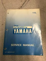 Used Yamaha Outboard Service Manual For 115n K - Lit-18616-00-07
