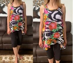 Women's floral sheer chemise flowing tunic from Mirror Image brand new all sizes