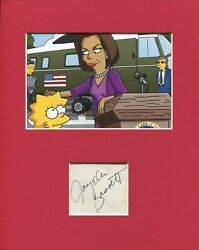 Angela Bassett The Simpsons Michelle Obama Voice Signed Autograph Photo Display