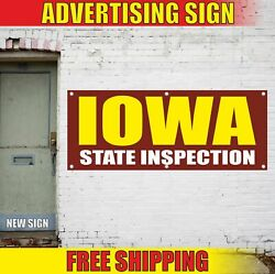 Iowa State Inspection Advertising Banner Vinyl Mesh Decal Sign Emission Repair