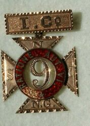 1875-6 Ind Wars New York State 9th National Guard 14kt Gold Pin P. F. Wilson