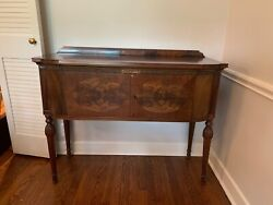 Antique Two Drawer Solid Wood Side Board - Server - Linen Chest