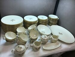 Vintage Lenox Wheat Service For Twenty 20 With Serving Dishes