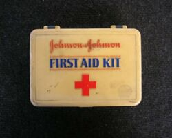 Vintage Johnson And Johnson First Aid Kit Set Car Accessory Classic Oldtimer