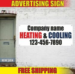 Company Name Heating And Cooling 12345 Advertising Banner Vinyl Mesh Decal Sign