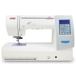 Janome Mc8200 Qcpse Computerized Sewing Machine W/ Extension Table And Much More