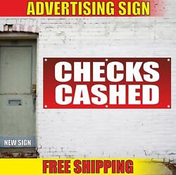Checks Cashed Advertising Banner Vinyl Mesh Decal Sign We Here Tax Open Loans 24