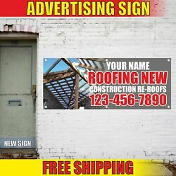 Roofing New Construction Re-roofs Advertising Banner Vinyl Mesh Decal Sign Name