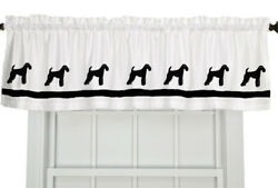 Airedale Terrier Dog WIndow Valance or Shower Curtain color choices