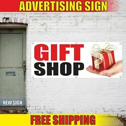 Gift Shop Advertising Banner Vinyl Mesh Decal Sign Cards Wrapping Balloons Open