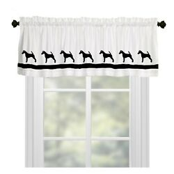 Fox Terrier Dog WIndow Valance or Shower Curtain Color choices Smooth or Wire