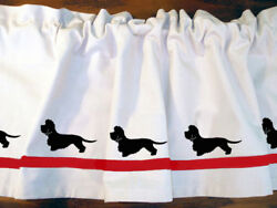 Dandie Dinmont Terrier Dog WIndow Valance or Shower Curtain Color choices