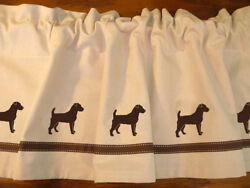 Jack Russell Terrier Dog WIndow Valance or Shower Curtain Color choices