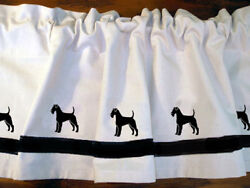 Irish Terrier Dog WIndow Valance or Shower Curtain Color choices