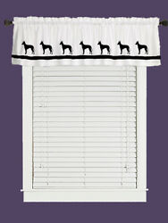 Manchester Terrier Dog WIndow Valance or Shower Curtain Color choices