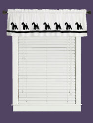 Lakeland Terrier Dog WIndow Valance or Shower Curtain Color choices