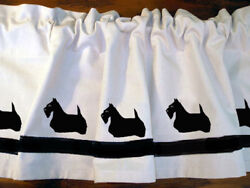 Scottish Terrier Scottie Dog Shower Curtain or window valance Color choices