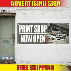 Print Shop Now Open Advertising Banner Vinyl Mesh Decal Sign Cards Booklet Photo