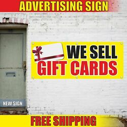 We Sell Gift Cards Advertising Banner Vinyl Mesh Decal Sign Certificates Shop