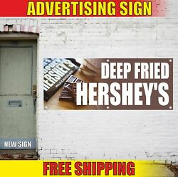 Deep Fried Hershey's Advertising Banner Vinyl Mesh Decal Sign Candy Bar Carnival