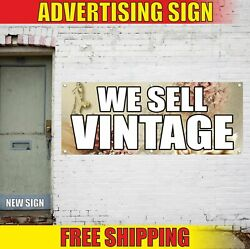 We Sell Vintage Advertising Banner Vinyl Mesh Decal Sign Collection Antique Rare