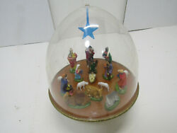 Old Vintage Religious Musical Wind Up Nativity Manger Christmas