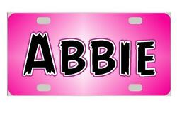 PINK Personalized Kids MINI LICENSE PLATE Any Name Bicycles ATVs Door Sign $13.95