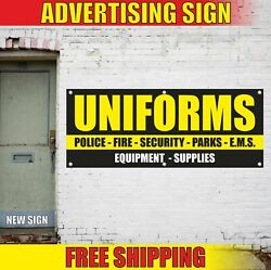 Uniforms Advertising Banner Vinyl Mesh Decal Sign Police Fire Security Parks Ems