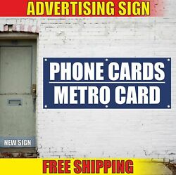 Phone Cards Metro Card Advertising Banner Vinyl Mesh Decal Sign We Sell Tickets