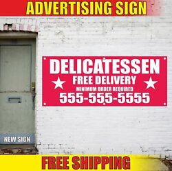 Delicatessen Free Delivery Advertising Banner Vinyl Mesh Decal Sign Min Order 24
