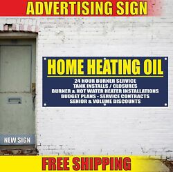 Home Heating Oil Advertising Banner Vinyl Mesh Decal Sign Service Install Plans