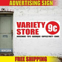 Variety Store Advertising Banner Vinyl Mesh Decal Sign Houseware Toy Party Candy