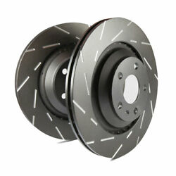 EBC USR Slotted Front Rotors for 11+ BMW X3 2.0 Turbo (F25)