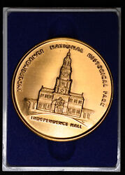 Independence National Histroic Park Medal Liberty Bell W/box Bronze 51mm