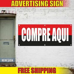 Compre Aqui Advertising Banner Vinyl Mesh Decal Sign Buy Here Spanish Pay Stop