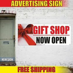 Gift Shop Now Open Advertising Banner Vinyl Mesh Decal Sign Cards Certificates