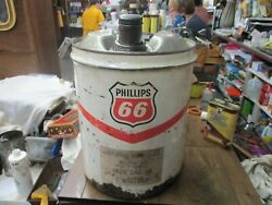 Phillips 66 Motor Oil Co 5 Gl Gallon Can Motor Gas Tin Vintage Service Station