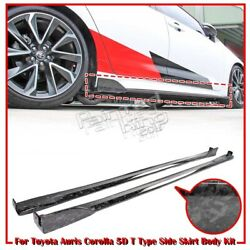 Forge Carbon For TOYOTA Auris Corolla 5D Hatchback T Style Side Skirt Body Kit
