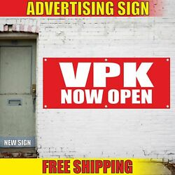 Vpk Now Open Advertising Banner Vinyl Mesh Decal Sign Free Child Care Nanny Cams