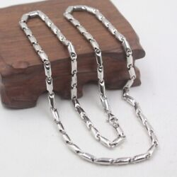 Pure 18k White Gold Necklace 5mm Stronge Link Chain Necklace 55cm Length