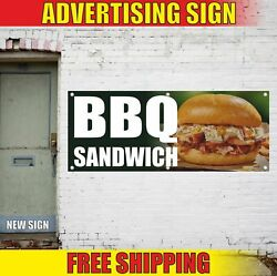 Bbq Sandwich Advertising Banner Vinyl Mesh Decal Sign Grill Barbecue Pulled Pork