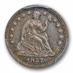 1857 Proof Seated Liberty Half Dime Pcgs Pr 62 Only 50 To 75 Known Rare