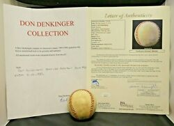 Dan Quisenberry Game Used Signed Baseball 9-13-83 Save 39 With Full Jsa Letter