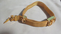 Victorian Slide Bracelet Mesh Design Band Great Condition, W, Faux Pearls