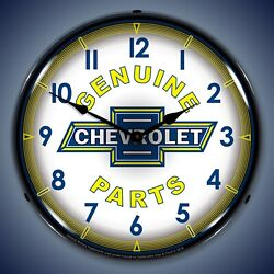 Chevy Parts Vintage Wall Clock Led Lighted