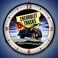 1949 Chevrolet Truck Wall Clock Led Lighted