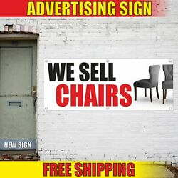 We Sell Chairs Advertising Banner Vinyl Mesh Decal Sign Furniture Shop Rocking