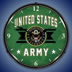 United States Army Wall Clock, Led Lighted