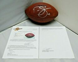 Darren Sproles Game Used Signed Football 9/14/08 50 Receiving 100 Return Yards