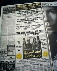 Best Dazed And Confused Cult Film Movie Opening Day Ad Review1993 L.a. Newspaper